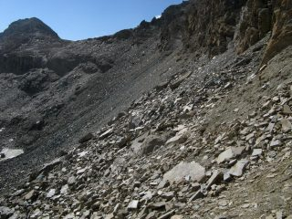 Il traverso dalla Bes per il Colle Leynir.