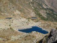 I laghi di Sant'Anna visti dal sentiero per il Passo del Lausfer
