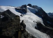 Cima e ghiacciaio di Entrelor dalla Percià