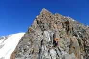 rocce rotte sulla cresta del Brouillard