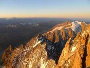 alba sulla cresta del Brouillard