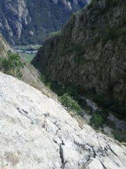 il selvaggio vallone delle Lisette, di fronte le vie di Sacchet ad Albard