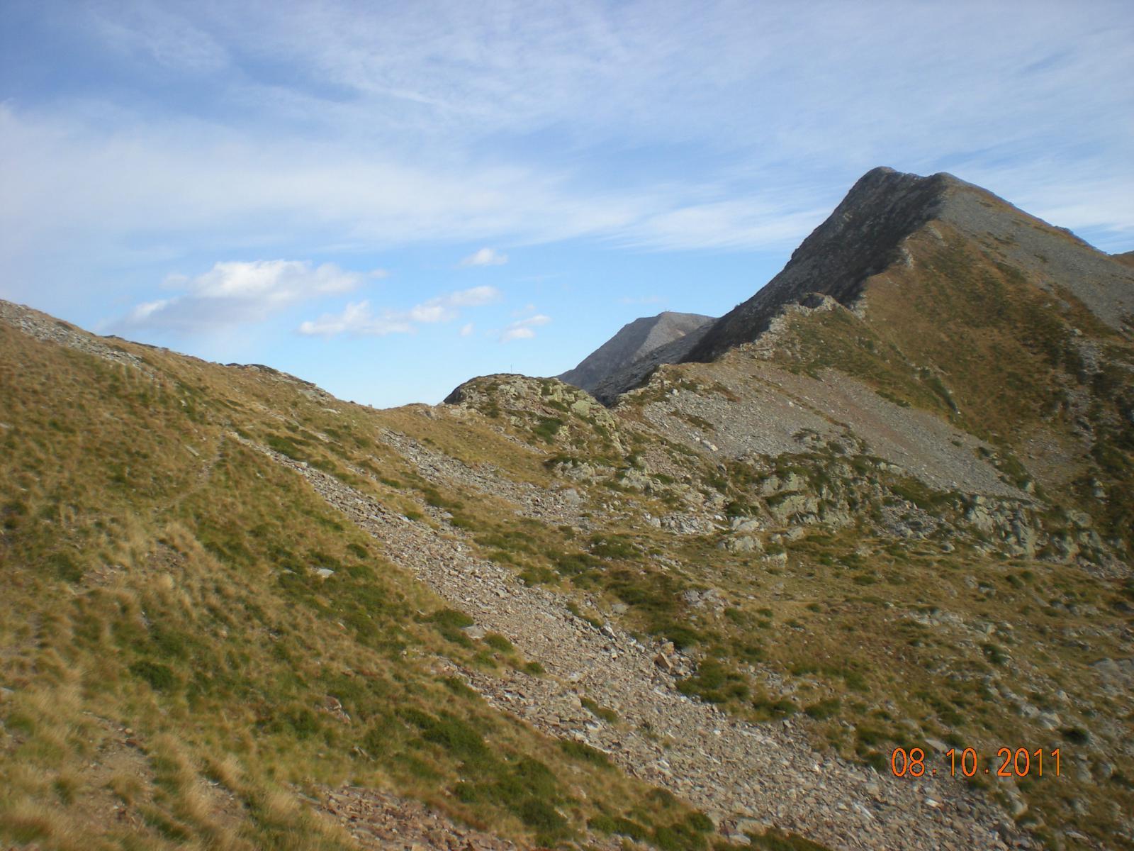 arrivando al Colle Gragliasca