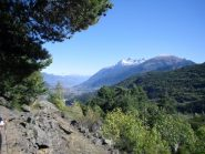 panorama verso Aosta e l'Emilius..