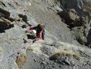 Stelvio esce dalla placca iniziale di 15 metri...davvero un bel passaggio ! (9-10-2011)