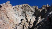 anfiteatro roccioso e ambiente dove si svolge la salita (9-10-2011)