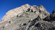 salendo verso l'inizio della parete Sud della Meyna (9-10-2011)