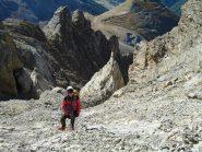 Stelvio nella parte finale dell'anfiteatro roccioso finale (9-10-2011)