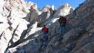 sulle placconate della prima parte della parete Sud (9-10-2011)