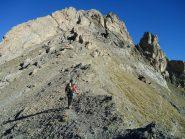 Stelvio sale verso sulla cresta Sud, verso l'inizio della parte alpinistica (9-10-2011)