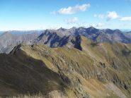 La cresta vista dal Pizzo del Moro