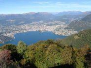Panoramica dalla Sighignola su Lugano
