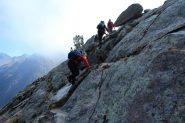 la placconata che consente di uscire dalla pietraia (15-10-2011)