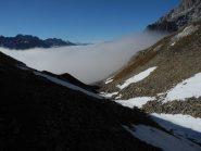 Dal Col Petit Ferret le nuvole lato valle d'Aosta