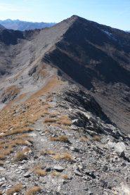 La lunga cresta che collega le due cime
