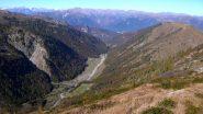 Dalla cresta la Valle Loana