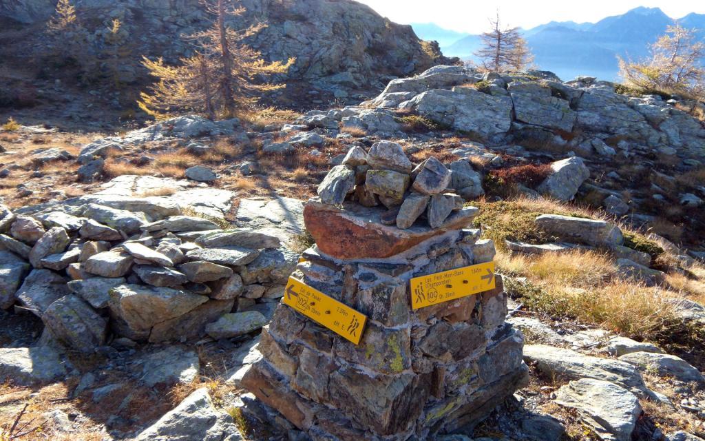 Indicazioni al Col de la Croix.