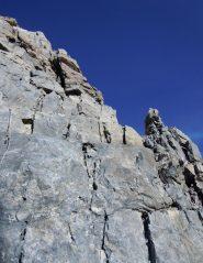 inizio del breve tratto di arrampicata