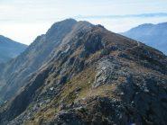 La cresta tra il Mont Roux ed il Mont Bechit
