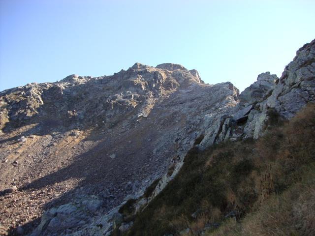 Il vallone di salita per evitare la cresta