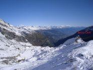 superata la Becca Cèrè per cresta verso il Mont Cornet....