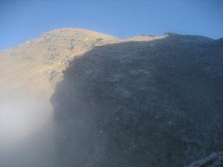 il Pizzo di Bronzo fotografato in prossimità del colle della Forcoletta