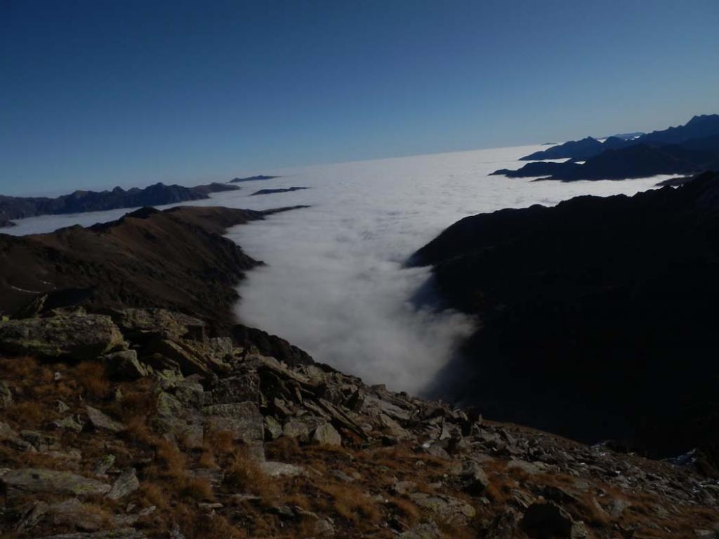 un mare di nuvole, che spettacolo!