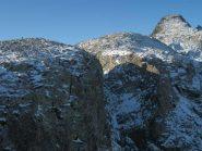 salendo ancora....vista su Becco Est Rostagno, Ovest di Rostagno e Becco ALto di Ischiator (da sx a dx)