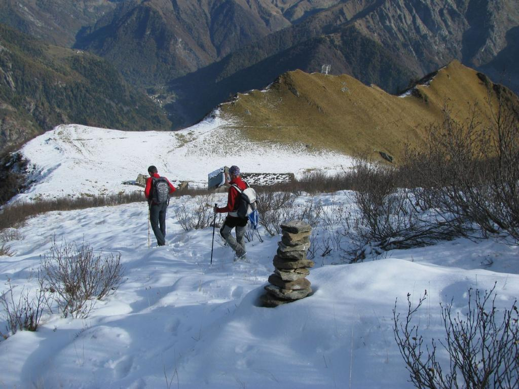 In discesa all'Alpe Sionei