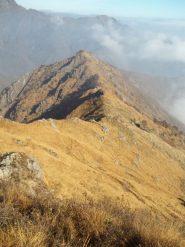 La cresta dall'Alpe Farina