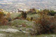 Vallinfreda vista dai pianori della parte alta del sentiero