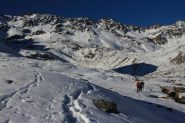 salendo in direzione del Lago Lavoir e della Rocca Gran Tempesta (30-10-2011)