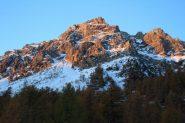 le prime luci del sole sulla Pointe de l'Enfourant (30-10-2011)