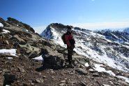 Stelvio sotto la quota 2959 m. con la cima sullo sfondo (30-10-2011)