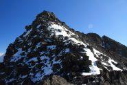 la parte finale della cresta che porta in cima (30-10-2011)