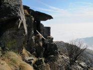 Il castello sommitale della Rocca Perabianca