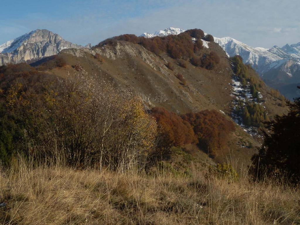 dal Monte Corno, vista sulla Punta Giaime (al centro) e sulla Punta Splaiera (a destra)