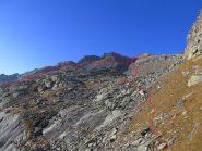 Percorso dalla Costa Pra Longis alla cima