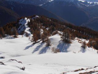04 - il Monte Rotta visto dall'arrivo del vecchio skilift sotto la Roccia Rotonda