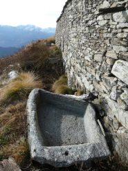 vasche di pietra all'Alpe Munt d'la Val