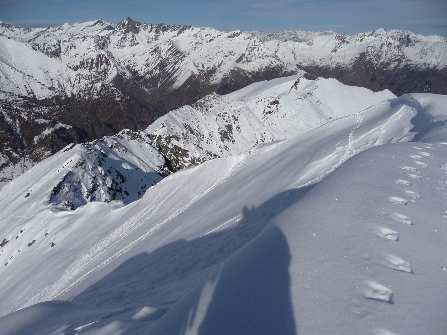la cresta N dalla cima