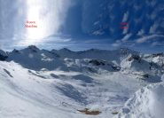 L'altopiano di Traversagn con la Rocca Marchisa