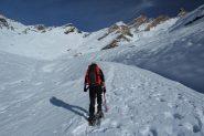 Davide in salita, verso quota 2400 m. (19-11-2011)