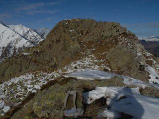 versante Est della Rocca Pergo Piccola vista dall'antecmia  rocciosa q. 2112 mt.