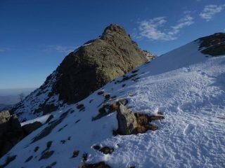la Rocca Pergo Piccola vista dai pressi del colletto