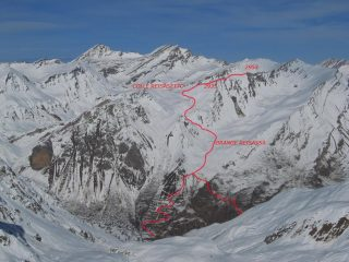 Mappa percorso Monte La Vigna