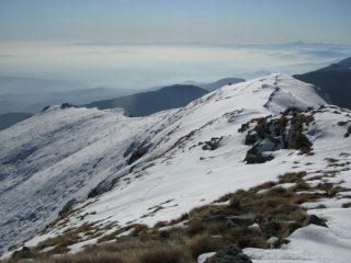 La cresta che conduce al Bec dei Binej