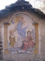 Dipinto su baita a Pera Fuset