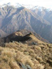 La cresta percorsa in salita dal Monte Serena