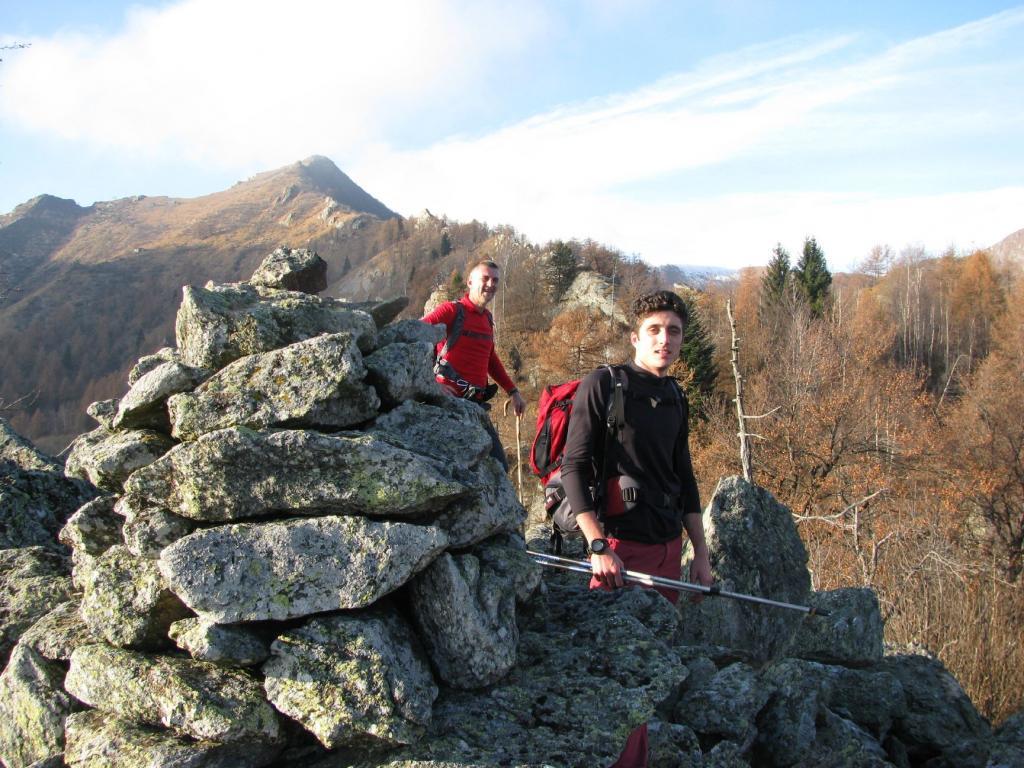 Franco e Stefano al Monte Serena co Uja sullo Sfondo
